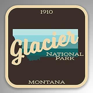 glacier national park bumper sticker