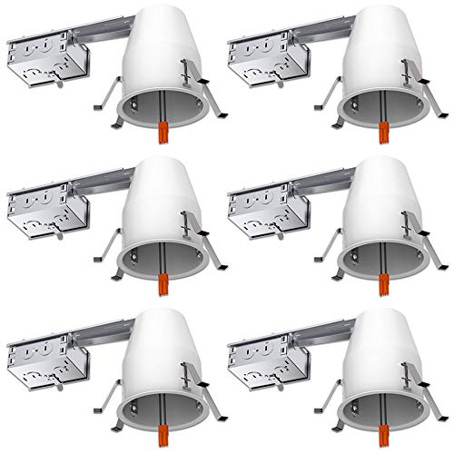 6 PACK - Remodel LED Can Air Tight IC Housing LED Recessed Lighting- UL Listed and Title 24 Certified (4 inch), TP24