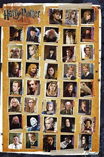1art1 51161 - Póster con Personajes de Harry Potter y Las Reliquias de la Muerte, 91 x 61 cm 2