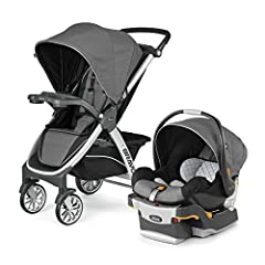 "The Chicco Bravo Trio System Includes Bravo Stroller, Key Fit 30 Infant Car Seat and Base ; Front Wheel Diameter: 7"" , Rear Wheel Diameter: 9"" Stroller features removable seat for easy transformation into a stylish frame carrier for the Key Fit.A gor..."