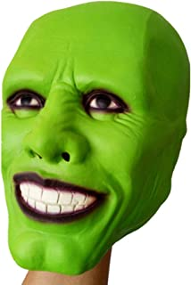 Latex Mask Halloween Adult Green Horrible Head Masks Costume Party Prop