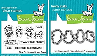 Lawn Fawn - Tiny Christmas Stamps Set and Dies Set - 2 Item Bundle