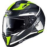 Helmet HJC I70 ELIM BLACK/FLO GREEN L