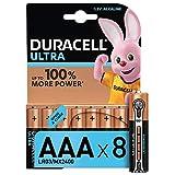 Duracell Ultra Power AAA - Pila Alcalina de Duración y Potencia Superior, 8 Unidades de Apertura Simplificada