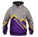 Minnesota Rugby Viking, Football Masculin, Manches Longues Sweat-Shirt, Fan Hoodie L