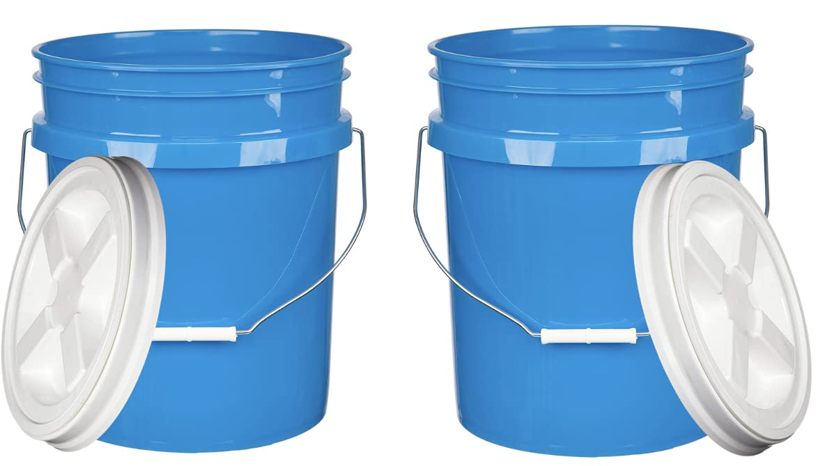 House Naturals 5 Gallon Max 66% OFF Bucket Pail White Gamma on Li Over item handling with Screw