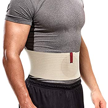ORTONYX Premium Umbilical Hernia Belt for Men and Women / 6.25  Abdominal Binder With Hernia Support Pad - Navel Ventral Epigastric Incisional and Belly Button Hernias - Beige OX5241-3XL Plus Size