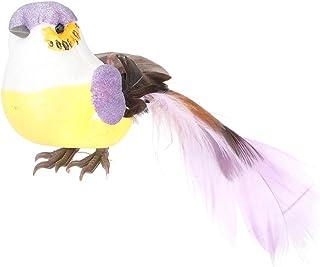 Feather Artificial Simulation Bird Decor, Simulation Bird Perfect Lovely Vivid for Flower Craft Scene Garden Window, Weddi...