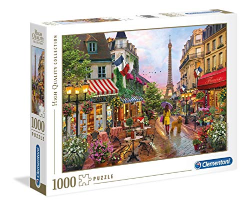 Clementoni Collection Puzzle-Flowers in Paris-1000 Pezzi, Multicolore, 39482