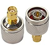N Male to RP-SMA RP SMA Male Connector RF Coax Coaxial Convertor Wi-Fi Adaptor Connector for Cell Phone Signal Booster Router 3G 4G LTE Ham Antenna WiFi Antenna Extender Transceiver Pack of 2