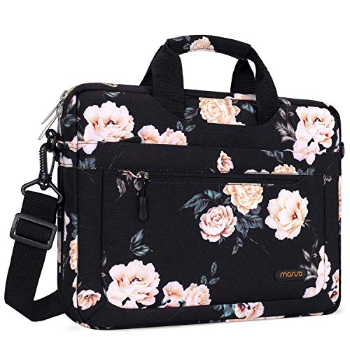 MOSISO Laptop Shoulder Bag Compatible with 2018-2020 MacBook Air 13 inch A2179 A1932 13 inch MacBook Pro A2251 A2289 A2159 A1989 A1706 A1708 Canvas Cross Grain Marble Carrying Briefcase Sleeve Case