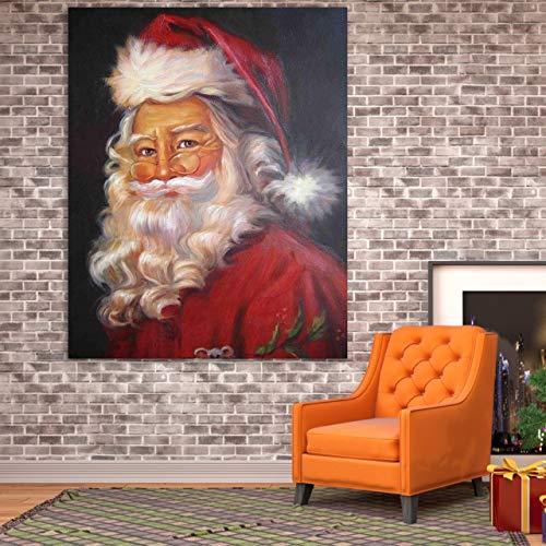 baodanla Geen frame Grote maat Vader Kerstmis olie ng Canvas Art Poster Figuur ngs Voor Woonkamer Wandportret