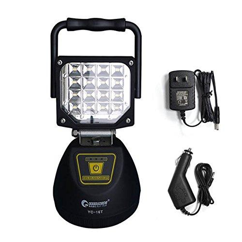 グッドグッズ(GOODGOODS) 充電式 LEDライト 16W 投光器 作業灯 マグネット付き 屋外 防水 スマホ充電対応 4モード YC-16T