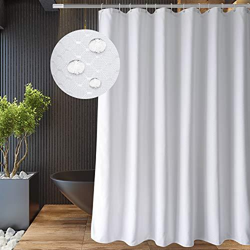 EurCross Duschvorhang, Waffelmuster, 182,9 x 182,9 cm, wasserabweisend, schweres Polyester, Wellness-Hotel-Luxus-Duschvorhang für Badezimmer, dekorativ, 1,8 m breit & 1,8 m lang