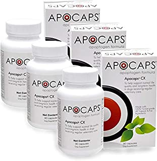 Apocaps CX Apoptogen Formula for Dogs (270 Capsules) - Supports Normal Levels of Apoptosis + Human Grade Ingredients Inclu...