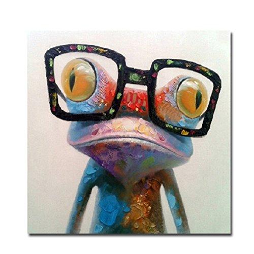 Fokenzary Malen nach Zahlen Pop Art Ölgemälde Leinwand für Kinder oder Erwachsene Anfänger mit Pinsel und Acrylfarben Kits (Frosch40 x 50 cm)