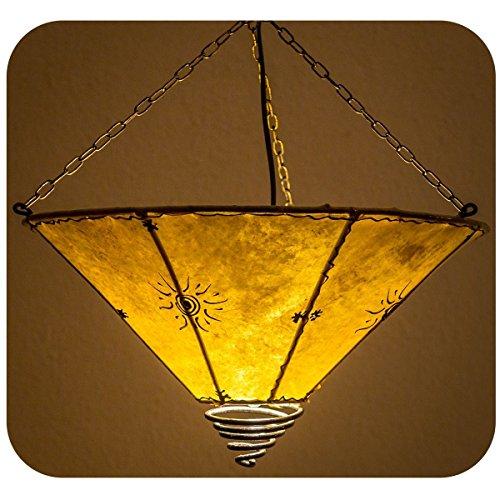 Orientalische Lampe Hängelampe marokkanische Deckenlampe Hänge Leuchte Hennalampe Lederlampe...