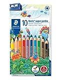Staedtler Noris Club 129 NC10.  Lápices de colores super jumbo. Caja con 10 unidades y sacapuntas.