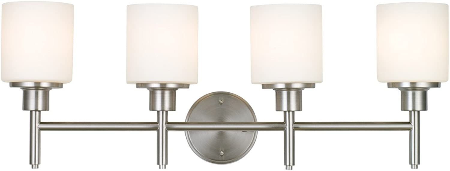 Design House 587394 Aubrey 4-Light LED Vanity Light, Satin Nickel