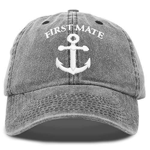 DALIX First Mate Hat Sailing Baseball Cap Sailor Gift Men Women Black Vintage
