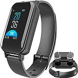 Fitness Tracker Wireless Headphones Bluetooth Earphone Headsets Charging Case Talk Band Watch Heart Rate Blood Pressure