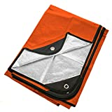 Arcturus Heavy Duty Survival Blanket – Insulated Thermal Reflective Tarp - 60' x 82'. All-Weather, Reusable Emergency Blanket for Car or Camping (Orange)