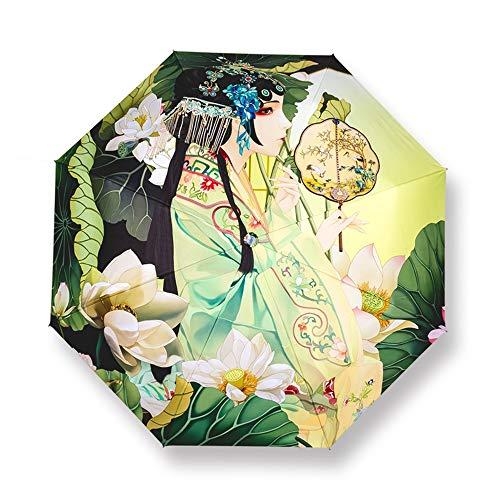 Regenschirm Sturmfest,Kompakter Taschenschirm – Wasserabweisend, Klein, Leicht – Stabiler Schirm mit voll,Automatischer Auf Zu Automatik