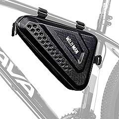 LUROON Bolsa Triangular de Bicicleta Impermeable Bolsa Bicicleta Montaña con Multiherramienta Gran Capacidad Bolsas Bicicleta Cuadro Bolsa para La Bici (Negro.)