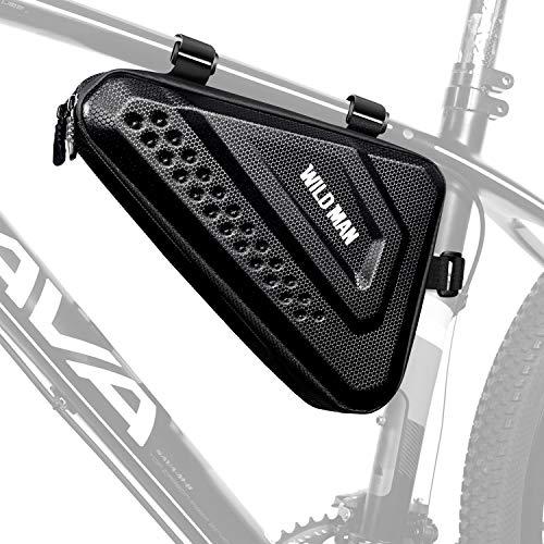 LUROON Fahrradtasche Rahmen Dreieck Groß wasserdichte Rahmentaschen Dreiecktasche Reflektierend Fahrrad Rahmentasche MTB Tasche Triangle Bag für Radsport Trekking E-Bike (Schwarz)