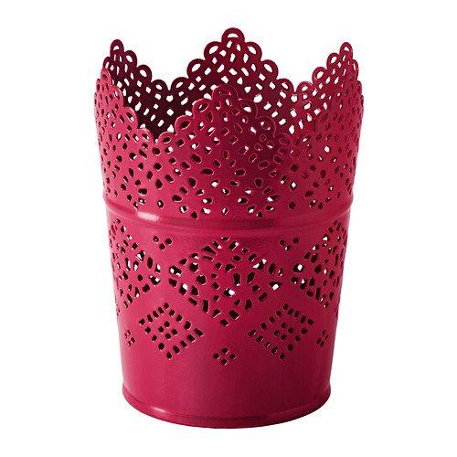 Ikea SKURAR -Kerzenhalter rot - 11 cm