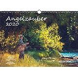 Angelzauber DIN A3 Kalender 2020 angeln und fischen und zusätzlich 1 Geschenkkarte - Seelenzauber