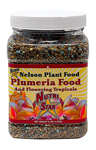 Nelson Plumeria Plant and All Flowering Tropicals Food Ferns Orchids Lilys In Ground Container Patio Grown Granular Fertilizer NutriStar 5-30-5 (2 lb)