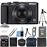 Nikon COOLPIX A900 Digital Camera (Black) + 64GB Memory + Ultimate Starter Bundle + Tripod