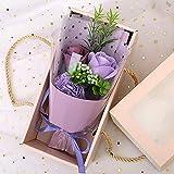 ToDIDAF Seife Rose Blumenstrauß mit Geschenkbox, Kunstblumen Künstliche Blumen, Gutes Geschenk...