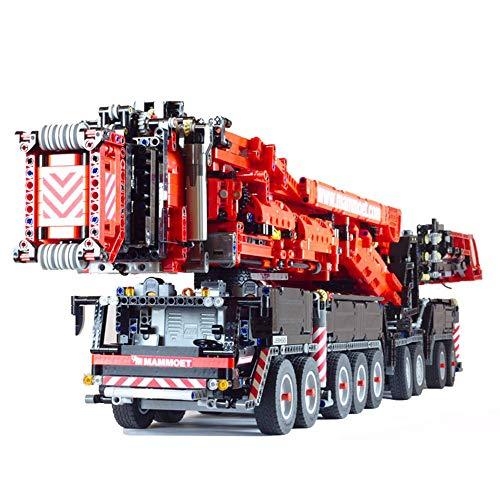 VONADO MOC New Power Mobile Crane Building Kit LTM11200 RC Liebherr Motor Kits Blocks, Crane Building Bricks Birthday Toys Gifts Indoor Interior--Black&Red(7600+PCS with PF)