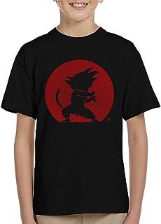 Cloud City 7 Kame Hame Goku Red Silhouette Dragon Ball Z Kid's T-Shirt