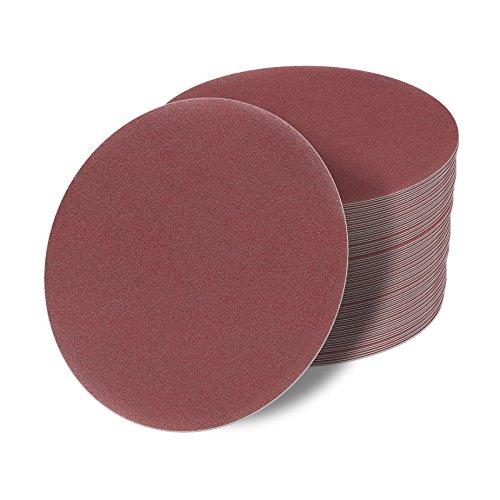 48 Stück Klett-Schleifscheiben red Ø 180 mm Körnung je 8 x 1200/1000/600/400/320/220 für Exzenter-Schleifer ohne Loch