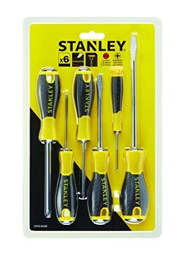 STANLEY STHT0-60208 Cacciavite Essential, 2 x Std - 1 x Parall - 3 x Ph, Set di 6 pz