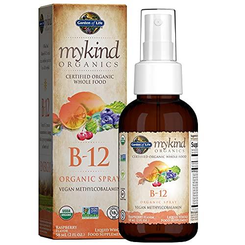 Garden Of Life Kind Organics Methylcobalamina B12 Spray de Frambuesa 58 ml