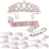 Gativs Banda de Cumpleaños Corona de Cumpleaños Accesorios de Fiesta Diadema de Cumpleaños Corona de Cumpleaños Corona de Cristal Cumpleaños Corona Confeti Broche de Perlas para Fiestas de Cumpleaños