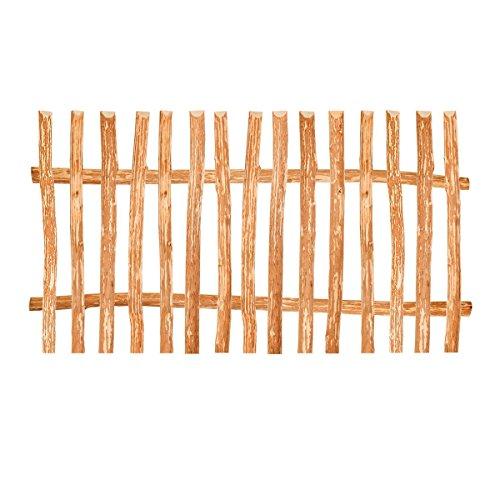 BooGardi Élément de clôture en noisetier • 90 tailles • 100 x 90 cm (7-9 cm) • Kit de montage pour clôture à lattes / clôture en bois de noisetier avec barres transversales, lattes et vis