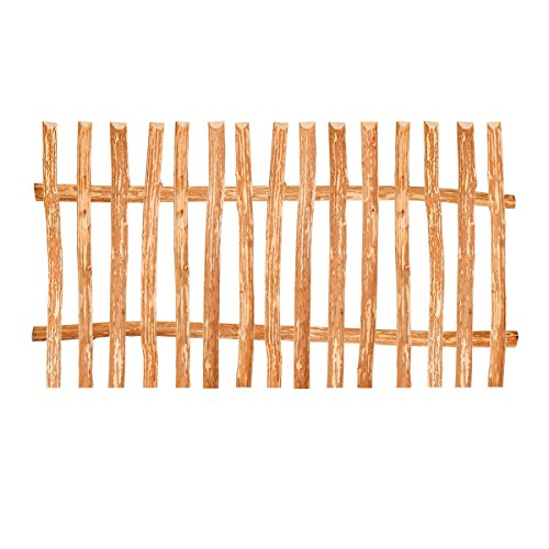 BooGardi Zaunelement Haselnuss • 90 Größen • 80 x 150 cm (7-9 cm) • Staketenzaun Bausatz für Lattenzaun/Bretterzaun aus Haselnuss inkl. Querriegel, Zaunlatten und Schrauben