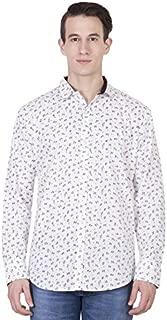 American-Elm Men's Cotton Full Sleeves Printed Shirt