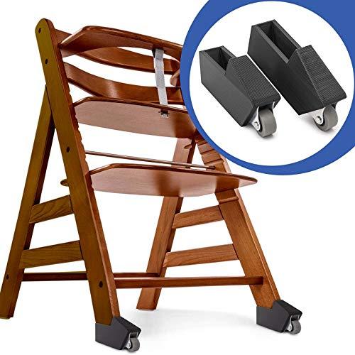 Wieltjes voor huisstoel Alpha Plus Baby kinderstoel achteraf inbouwen steken zwart