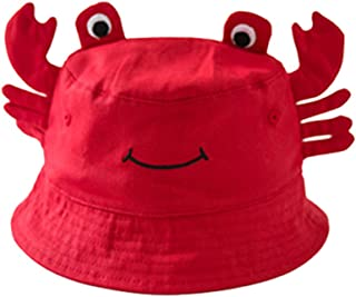 Crab Pattern Unisex Baby Wide Brim Bucket UV Sun Protection Hat Toddler Baby Caps Hats