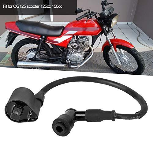 Bobina de encendido, caja DC 12V bobina de encendido, bobina primaria de material confiable de alta calidad para scooter CG125 125cc