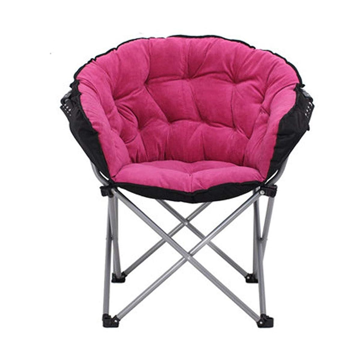 貧しい風刺リル折りたたみソファ 簡単折りたたみ家庭昼食高齢者怠惰な折りたたみ椅子 (色 : ピンク, サイズ : 50*80*102cm)
