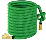 MoonLa 75ft Garden Hose, All New Expandable Water Hose with 3/4' Solid Brass Fittings, Extra Strength Fabric - Flexible Expanding Hose with Free Storage Bag