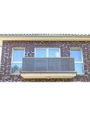 Smart Deko Antraciet balkonscherm, balkonbekleding, windscherm, inkijkbescherming en uv-bescherming voor balkon, tuininstallaties, camping en vrije tijd.