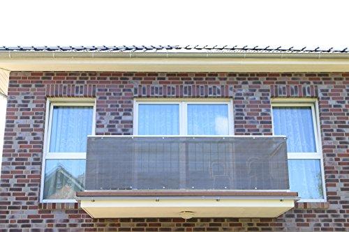 Smart Deko Anthrazit 78990 700x90cm Balkonsichtschutz, Balkonverkleidung, Windschutz, Sichtschutz und UV-Schutz für Balkon, Gartenanlagen, Camping und Freizeit (700x90cm)